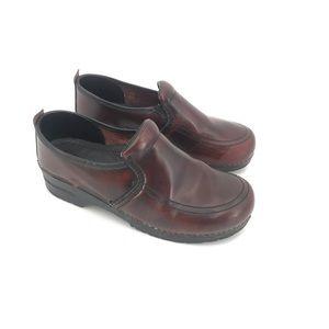 Dansko Men's Burgundy Clog Comfort Loafer Shoe
